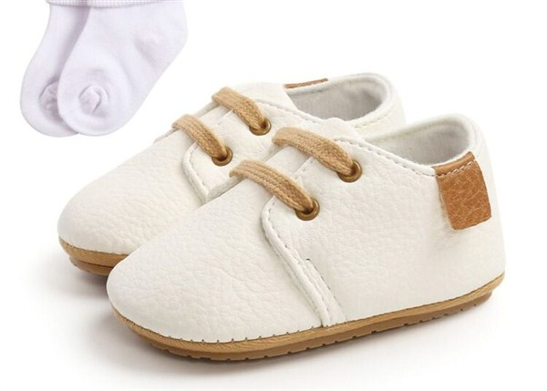 kiskissing-wholesale-2-Pieces-Baby-PU-Shoes-With-Socks