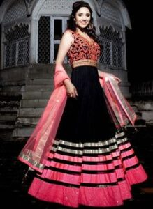 pink Bollywood suit